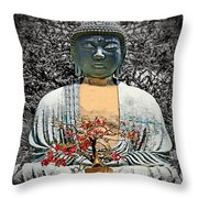 The Great Buddha Throw Pillow