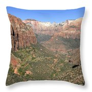 The Great Canyon Of Zion Throw Pillow