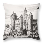 The Great Chatelet Of Paris. Principal Throw Pillow