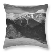 The Great Colorado Sand Dunes  125 Black And White Throw Pillow