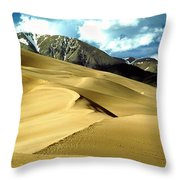 The Great Colorado Sand Dunes Color Print Throw Pillow