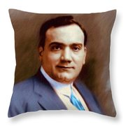 The Great Enrico Caruso Throw Pillow