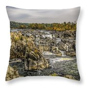 The Great Falls Of The Potomac Throw Pillow
