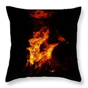 The Great Fire Throw Pillow