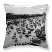The Great Flotilla Throw Pillow