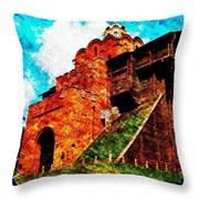 The Great Gate At Kiev Throw Pillow