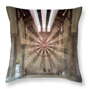 The Great Hall, Winchester Castle, Hampshire Zoom Burst Throw Pillow