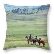 The Great Montana Expanse Throw Pillow