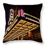 The Great Movie Marquee Throw Pillow