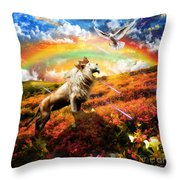 The Great Out Pouring  Throw Pillow