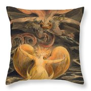 The Great Red Dragon And The Woman Clothed With The Sun Throw Pillow