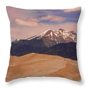 The Great Sand Dunes And Sangre De Cristo Mountains Throw Pillow