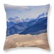 The Great Sand Dunes Color Print 45 Throw Pillow
