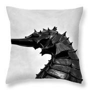 The Great Sea Horse Throw Pillow