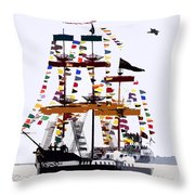 The Great Ship Gasparilla Throw Pillow