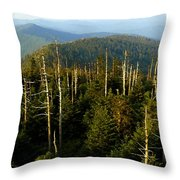 The Great Smoky Mountains Throw Pillow