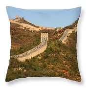 The Great Wall On Beautiful Autumn Day Throw Pillow