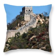 The Great Wall Mountaintop Throw Pillow
