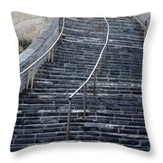 The Great Wall Steps Throw Pillow