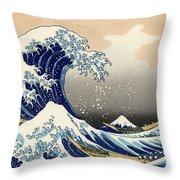 The Great Wave Off Kanagawa Throw Pillow