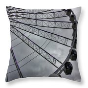 The Great Wheel Throw Pillow