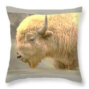 The Great White Buffalo Throw Pillow
