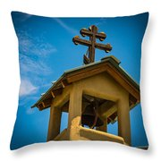 The Greek Orthodox Belfry Throw Pillow