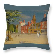 The Green At Banbury Throw Pillow
