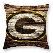 The Green Bay Packers 1b Throw Pillow
