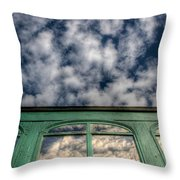 The Green Carriage Throw Pillow