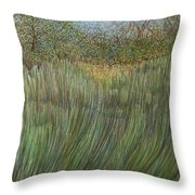 The Green Field Throw Pillow