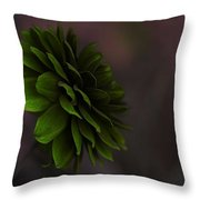 The Green Flower Throw Pillow
