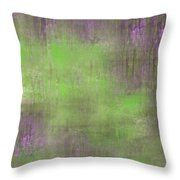 The Green Fog Throw Pillow