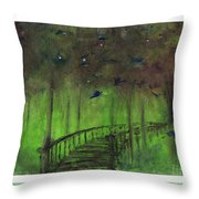 The Green Forest Throw Pillow
