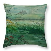The Green, Green Grass Of Home Throw Pillow