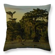 The Green Green Trees Of Home Throw Pillow