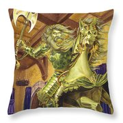 The Green Knight Throw Pillow