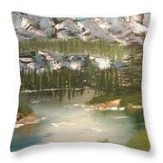 The Green Lake Throw Pillow