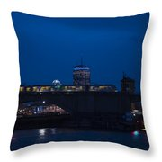 The Green Line Rumbling Past The Pru Throw Pillow