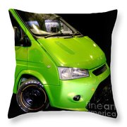 The Green Machine Throw Pillow