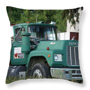 The Green Mack Throw Pillow