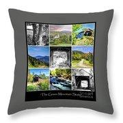 The Green Mountain State Throw Pillow