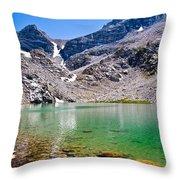 The Green Of Treasure Lake 3  Throw Pillow