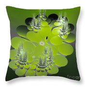 The Green Towers Throw Pillow