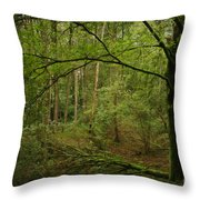 The Green Tree Throw Pillow