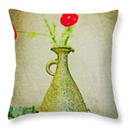The Green Vase Throw Pillow