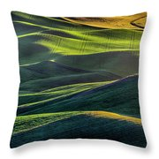 The Green Waves Of Palouse Wa Dsc05032  Throw Pillow