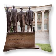 The Greensboro Four February One Monument Throw Pillow