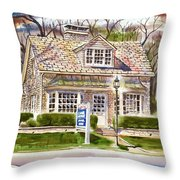 The Greystone Inn In Brigadoon Throw Pillow