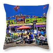 The Grill House Throw Pillow